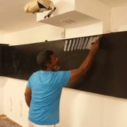 Pintado en Purpurina color Negro, Barcelona