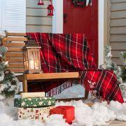 árbol de navidad en terraza