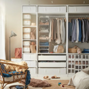 Armario sin puertas con sistemas de almacenaje de ropa, calzado y complementos de IKEA