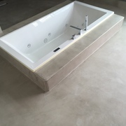 Baño en microcemento