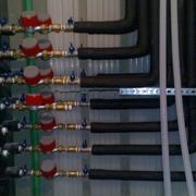 Bateria contadores agua caiente