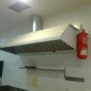 instalacíon de campana con sistema contra incendios