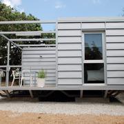 Casa 3x3 Vista lateral y porche