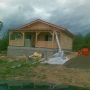 Construccion de Forjado sanitario para una Casa De Madera En Cervera Del Maestre