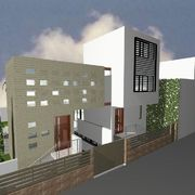 Casa Estudio ASP. Vista de fachada a la calle