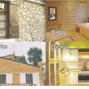 Casas, fachadas, baños y cocinas.