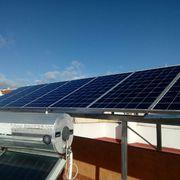 Instalación solar fotovoltaica sobreelevada en cubierta plana