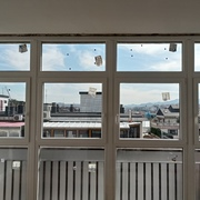 Cierre de terraza con galería de PVC