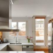 Cocina con salida a terraza