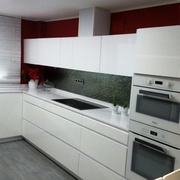 Cocina de blanca