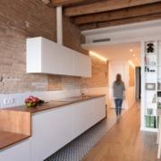 Cocina, salón de estilo rústico, retro, vintage