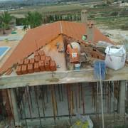 Construcción de estructura de chalet