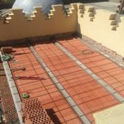 Construcción de forjado y posterior impermeabilización.
