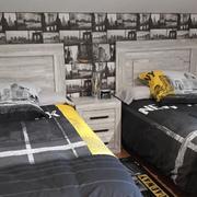 Pintura de habitacion y colocacion papel pintado