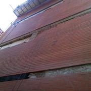 Desplome de pared medianera