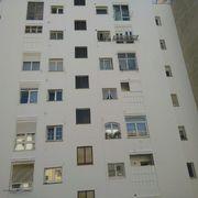 Saneado y pintado de fachada trasera en sistema vertical