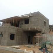Detalle de la casa en construcción