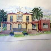 dibujo fachada