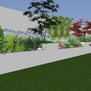 Diseño de jardín en vivienda particular