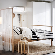 Dormitorio con colchón de viscoelástica