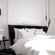 Dormitorio ecléctico y atemporal