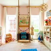 Dormitorio infantil con columpio