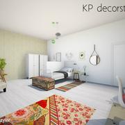 Dormitorio juvenil estilo escandinavo