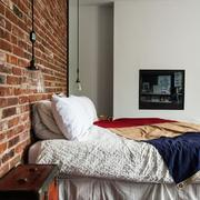 Dormitorio pared ladrillo visto brooklying industrial chic