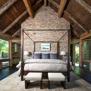 dormitorio rústico cama
