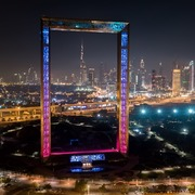Dubai Frame iluminado
