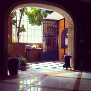 El hall de entrada .