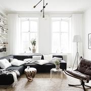 Salón con sofá de esquina