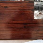 Encimera de pino tratada y teñida en color nogal