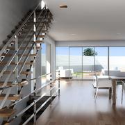 Escalera + Comedor 3D