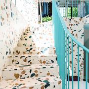 escalera de terrazo