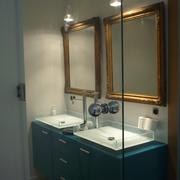 espejos de anticuario y mueble baño lacado a medida