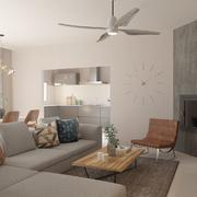 Estudio CGM Infografías. Render 4 viviendas interiores con piscina. La Alfoquía, Almería 2