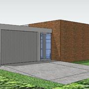 Estudios previos de Vivienda Unifamiliar de una planta con 3 dormitorios y garage