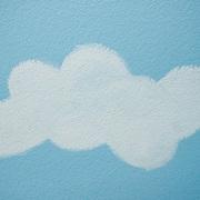 pintar una nube en la pared