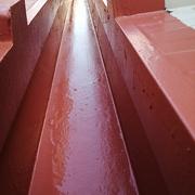 Finalización con membrana alifática color teja