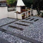 Jardín Con Grava Decorativa