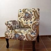 Butaca clasica de nueva fabricacion con combinacion de tejido en Sevilla