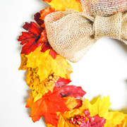 guirnalda hojas