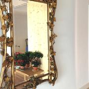 Hall, espejo, madera