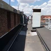 Impermeabilizacion de cubierta con fibra de vidrio y caucho liquido