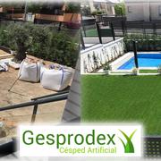 Gesprodex - Instalación de cesped artificial en Chalet de Las Rozas (Madrid)