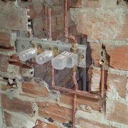 instalacion de griferia empotrada tress con cascada, ducha lluvia ,y ducha de mano