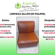 Limpieza de sillón de polipiel