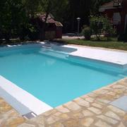 Llenando la piscina