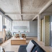 loft con techos de hormigón